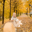 Autumn portrait of a cute little girl — Stock Photo #58738475