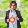 Young business woman with target — Stock Photo #62733131