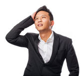Young asian businessman worried — Stock Photo