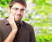 Man suffering teethache — Stock Photo