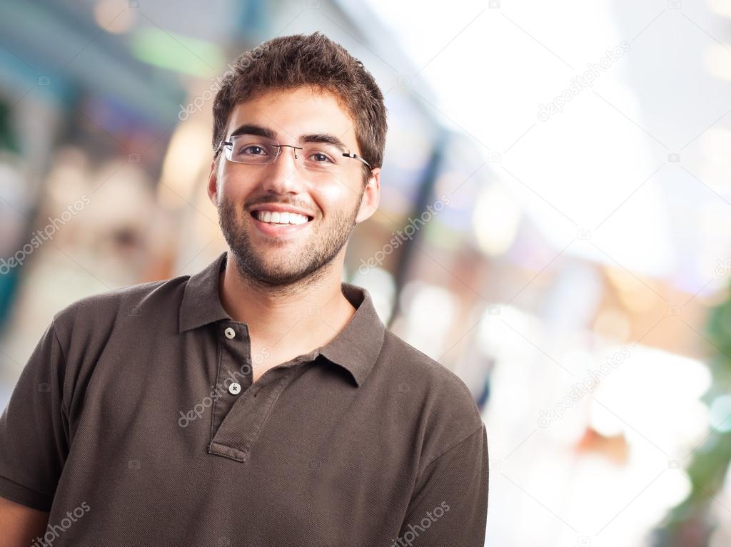 戴眼镜的英俊男人 — 图库照片