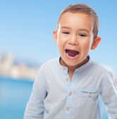 Little boy shouting — Stock Photo