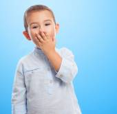 Little boy with surprised gesture — Stock Photo