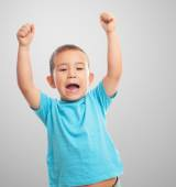 Little boy with animating gesture — Stock Photo
