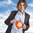 Young business woman with target — Stock Photo #62766417