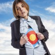 Young business woman with target — Stock Photo #62766675