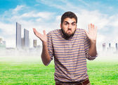 Young man doubting about something — Stock Photo