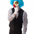 Clown with magnifying glass — Stock Photo #66612445