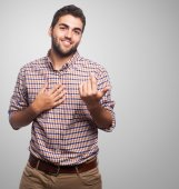 Man doing  love gesture — Stockfoto