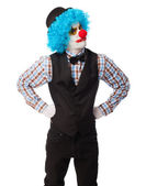 Portrait of a funny clown — Stock Photo