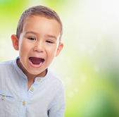 Boy with shouting gesture — Stok fotoğraf