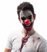 Portrait of an evil clown — Stock Photo