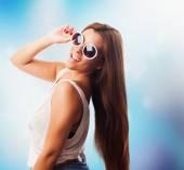 Kobieta z okulary — Zdjęcie stockowe
