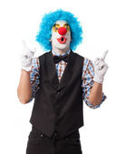 Portrait of a clown smiling — Fotografia Stock