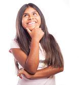 Happy girl thinking — Stock Photo
