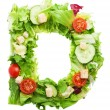 D letter made from salad — Stock Photo #67010479