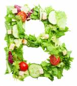 B letter made from salad — Stock Photo