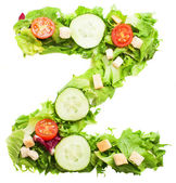 Z letter made from salad — Stock Photo
