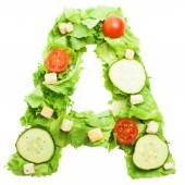 A letter made from salad — Stock Photo