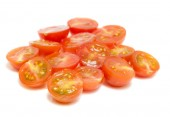 Cuted cherry tomatoes — Stock Photo