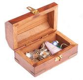 Vintage wooden casket — Stock Photo