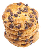Tower of chocolate cookies — Stock Photo