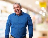 Mature man joking — Stock Photo