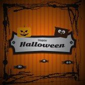 Cartel de halloween feliz — Vector de stock