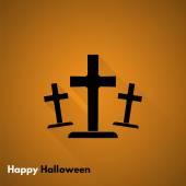 Happy Halloween. Gravestone icon — Vector de stock