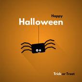 Happy Halloween. Label with Spider — Vector de stock