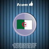 Flag of Algeria on the background — Stock Vector