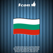 Bulgaria Flag on the Background — Stock Vector