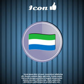 Flag of Sierra Leone on the Background — Stock Vector
