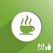 热咖啡杯杯或茶 — 图库矢量图片
