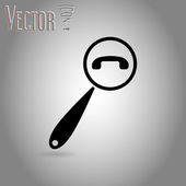 Magnifying Glass Contact Icon — Wektor stockowy