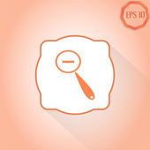 Zoom in web icon. Magnifier with Decreasing. Flat Style — Stock Vector