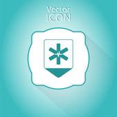 Kaart aanwijzer met medische symbool. Platte ontwerpstijl — Stockvector