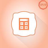 Calculator icon. Flat design style — Stock Vector