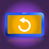 Loading and buffering icon. Specular reflection. — Stock Vector
