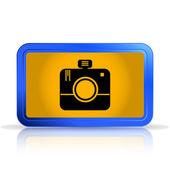 Photo Camera Icon.Specular reflection — Stock Vector