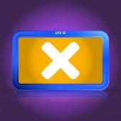 Cancel icon. Specular reflection. — Vecteur