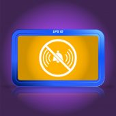 Turn off Phone Ringer Icon. Specular reflection — Stock Vector