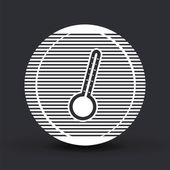 Thermometer icon. Flat design style.  — Stock vektor