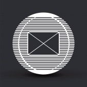 Icon mail. Flat design style.  — Stock Vector