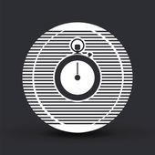 Stopwatch icon. Flat design style — Stock Vector