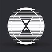 Hourglass icon. Alarm clock icon. Flat design style. — Stock Vector