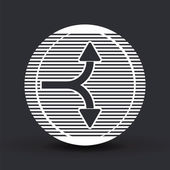 Two arrows. Direction up and down. Flat design style.  — Vecteur