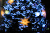 Defocused christmas lights background — Stock Photo