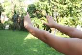 Tai Chi yapıyor egzersiz çocuk — Stok fotoğraf