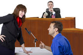 Bribe in courtroom — Stock Photo